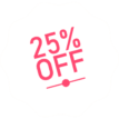 25% Off Sale Badge