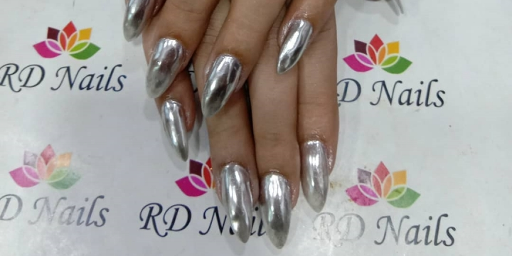 Chrome Finish Nail Art
